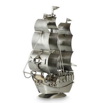Rustic Galleon Made of Recycled Metal