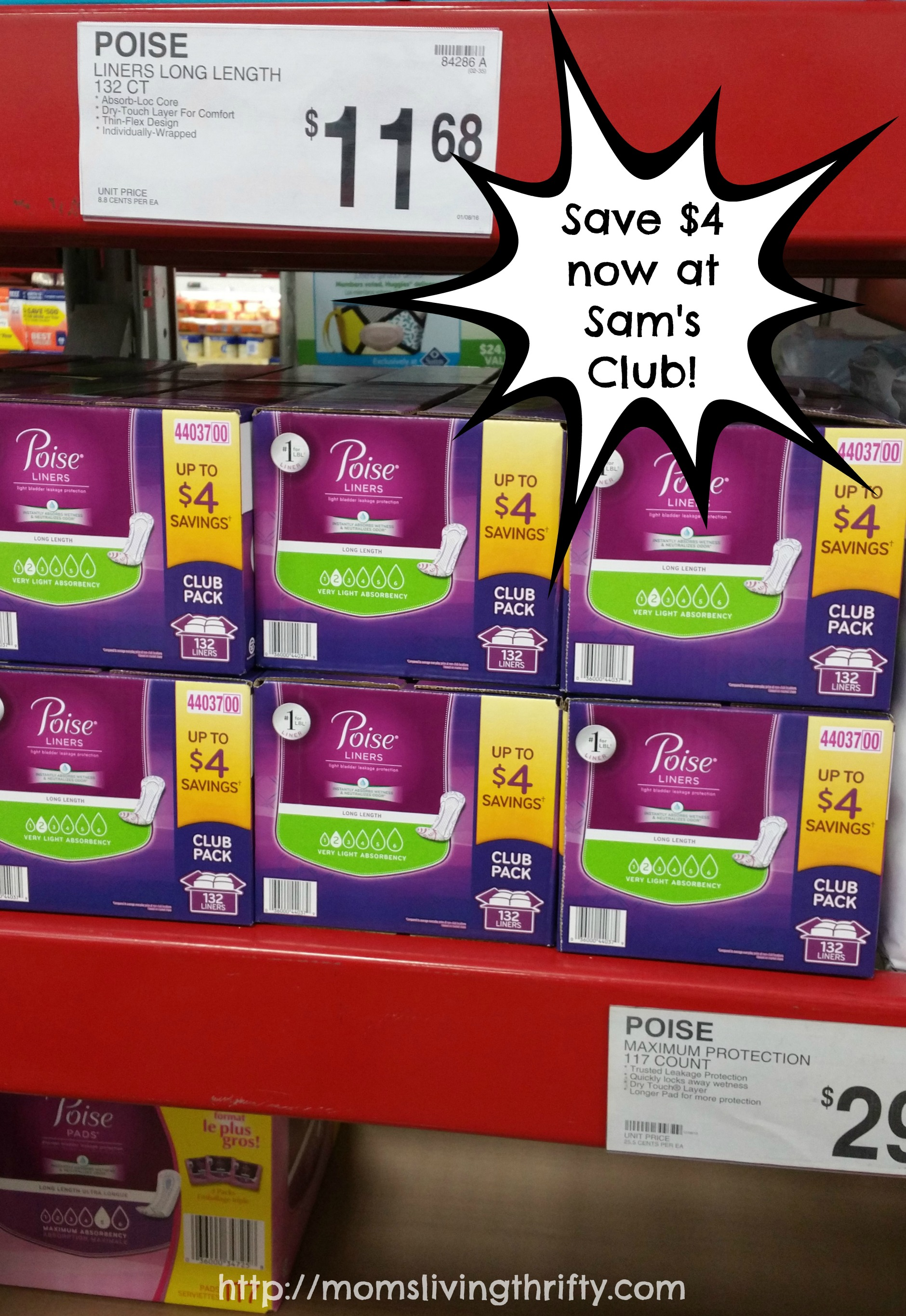 Get YOUR life back! Pick up Poise Liners now at Sam's Club.